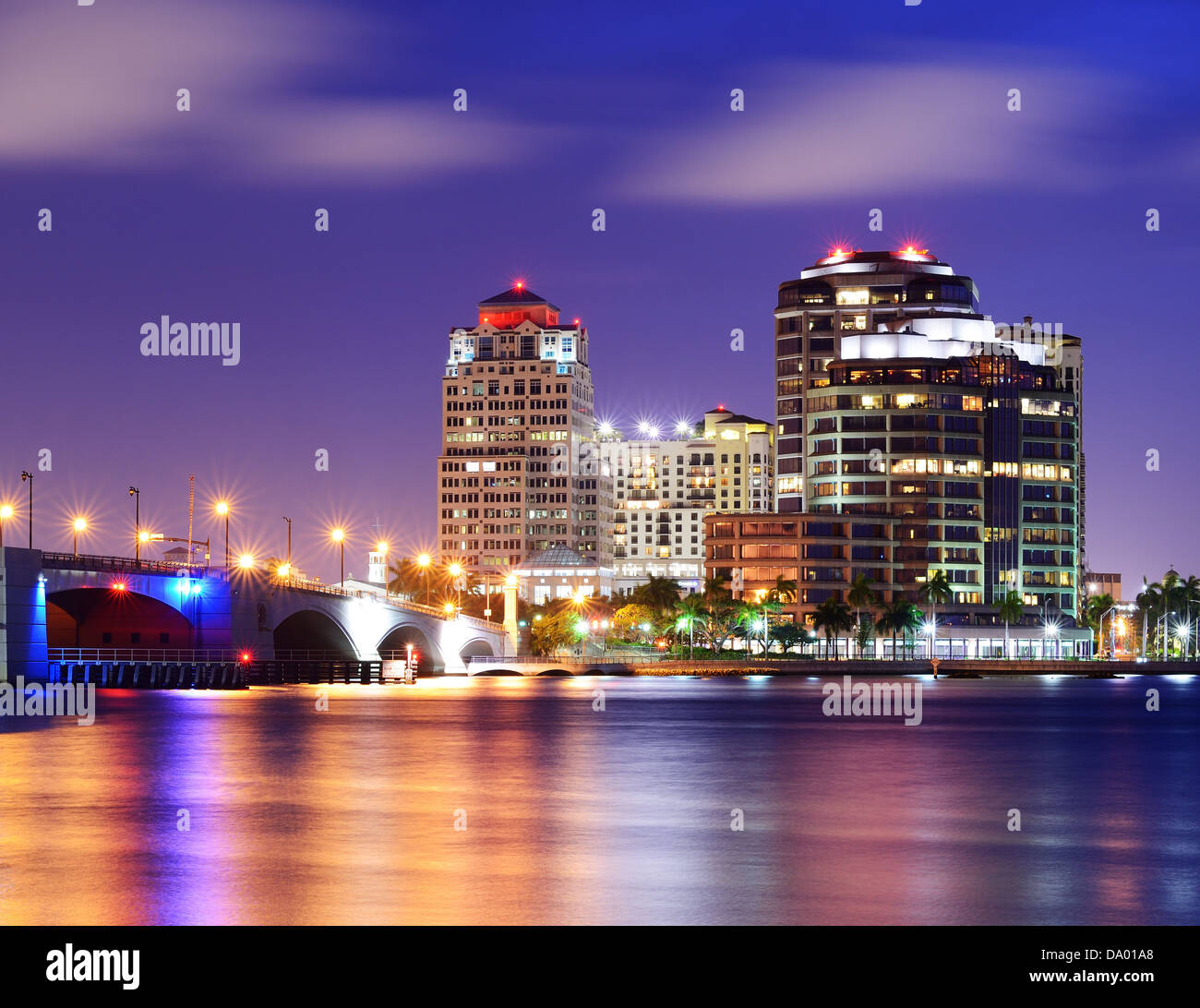 Skyline of West Palm Beach, Florida, USA. - Stock Image