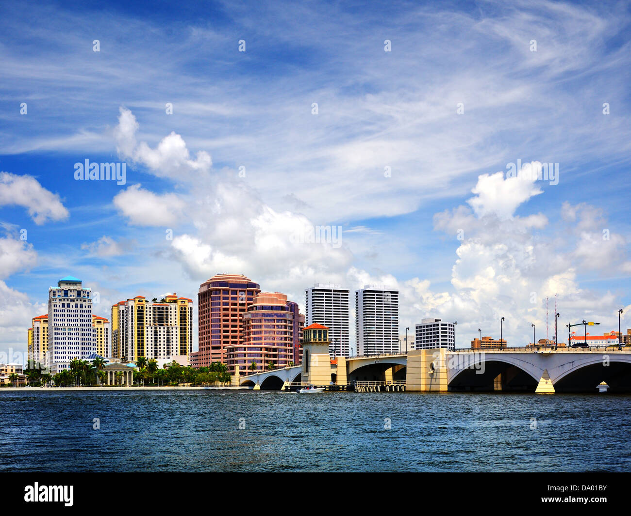 Downtown West Palm Beach, Florida skyline. - Stock Image