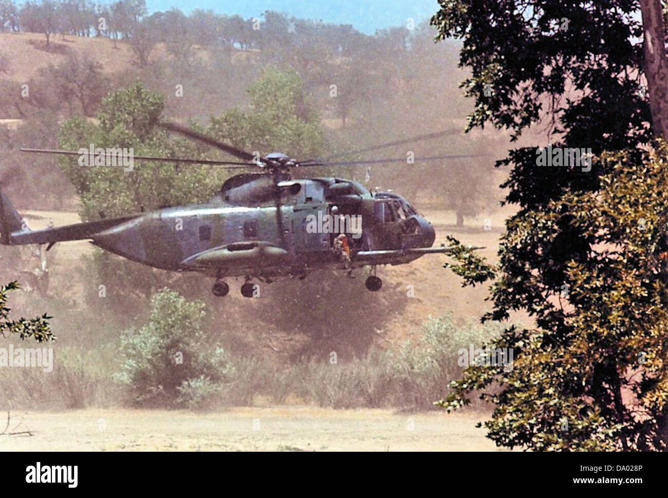 129th Air Rescue Squadron - HH-3E Jolly Green Giant 1990 - Stock Image
