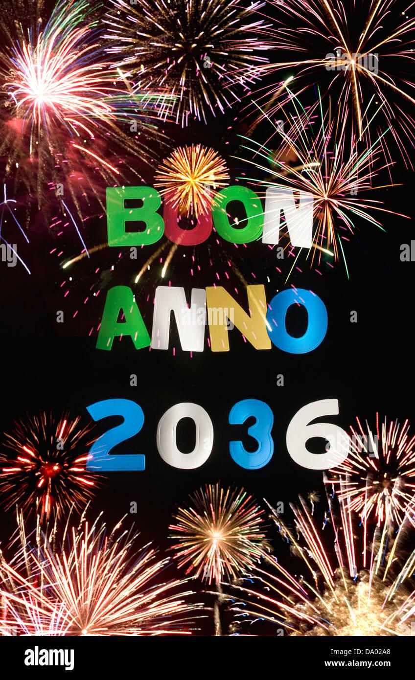 BUON ANNO 2036 - Stock Image