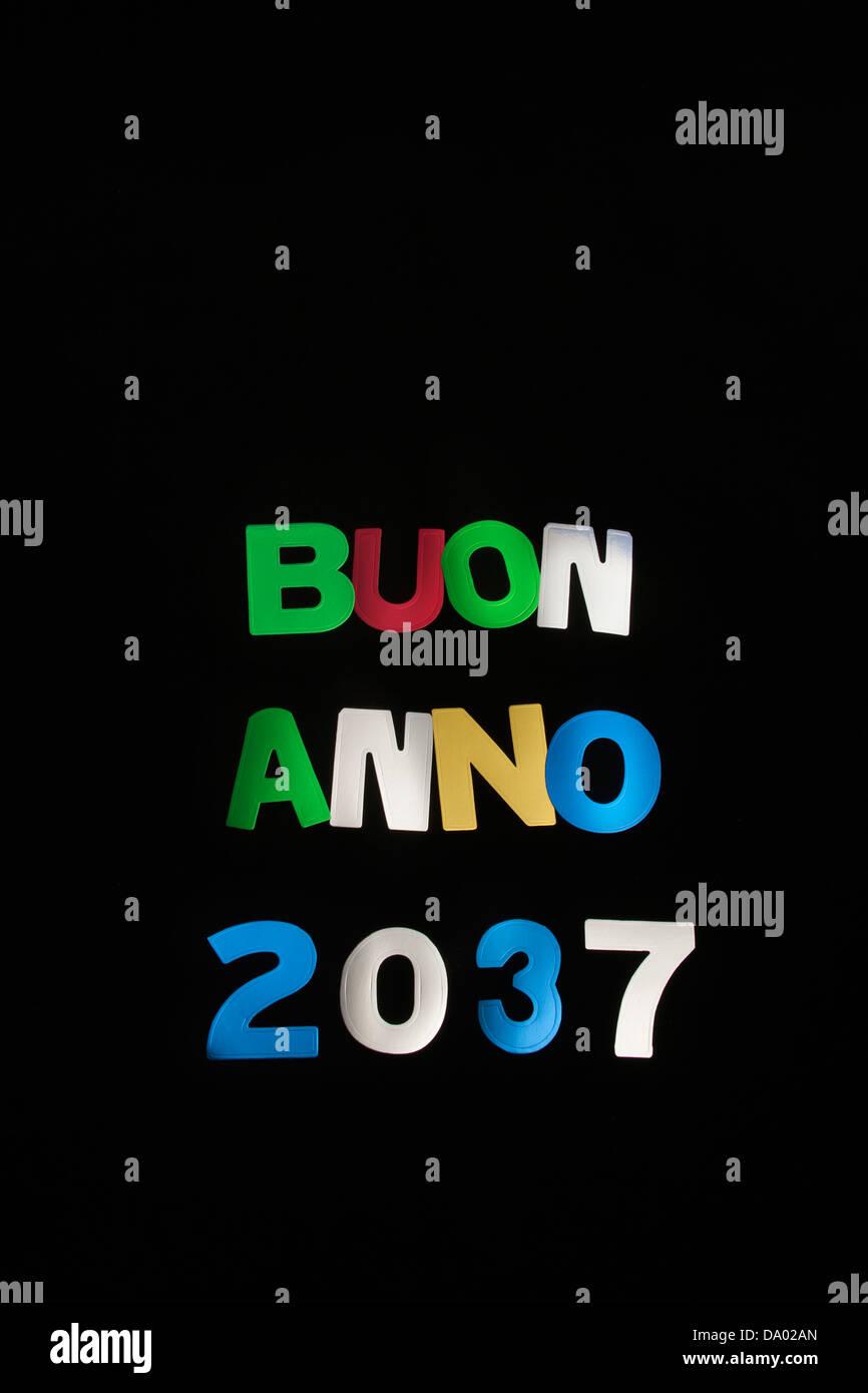 BUON ANNO 2037 - Stock Image