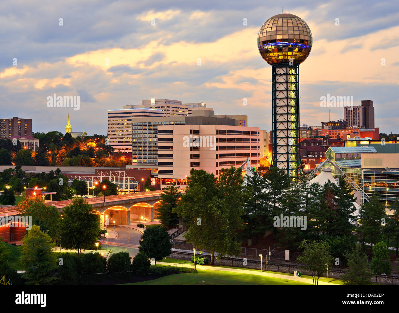 Skyline of downtown Knoxville, Tennessee, USA. - Stock Image