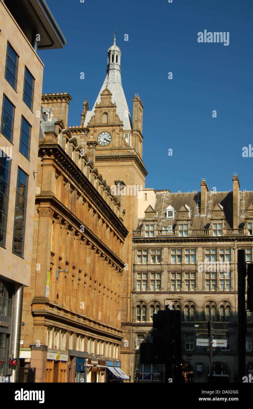 City centre buildings in Glasgow, Scotland - Stock Image