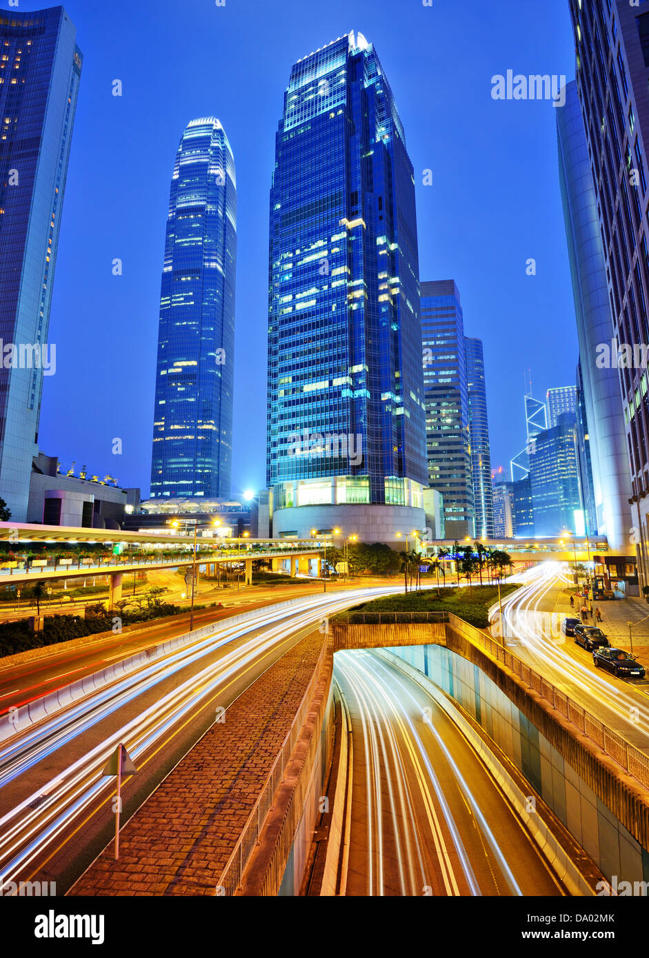 Financial buildings on Hong Kong Island. - Stock Image