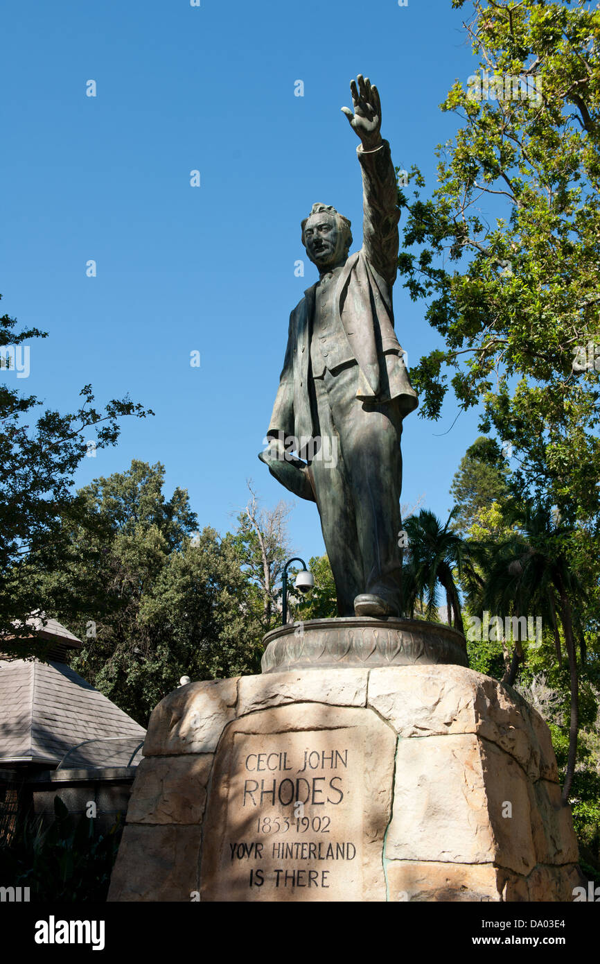 Cecil John Rhodes Statue, The Company's Garden, Cape Town, South Africa - Stock Image