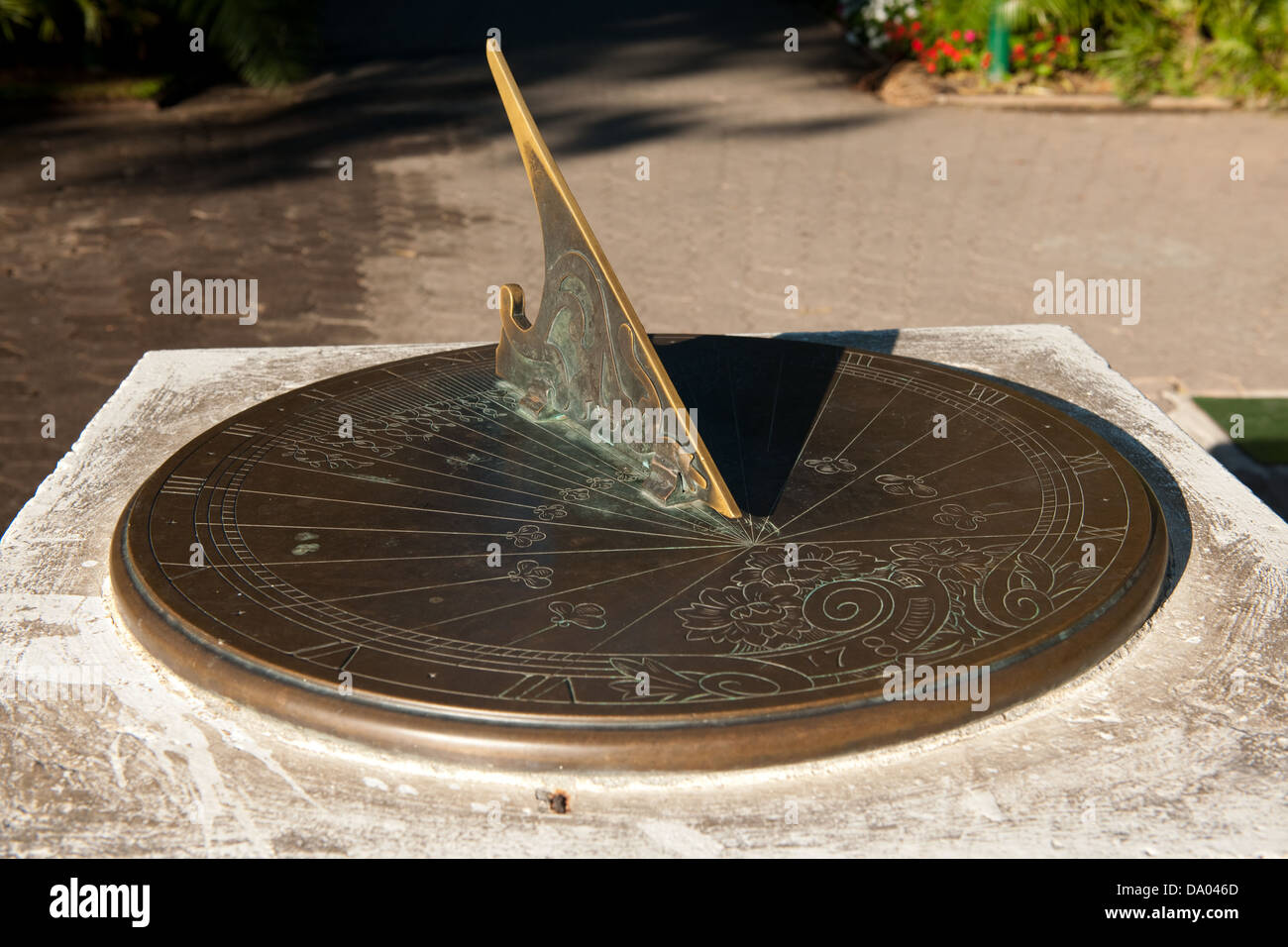 Sun Dial, The Company's Garden, Cape Town, South Africa - Stock Image