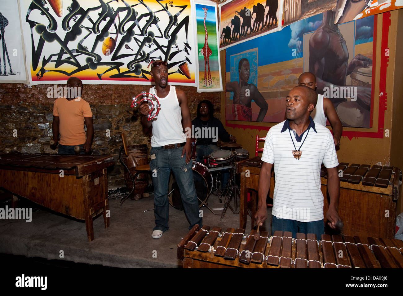 Live music at Mama Africa, Long Street, Cape Town, South Africa - Stock Image