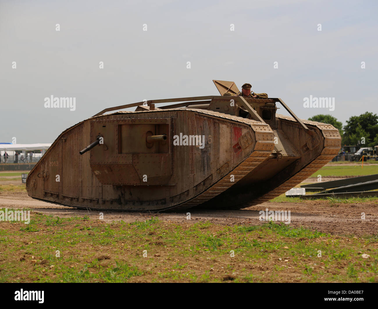 Bovington, UK. 29th June, 2013. The Mark IV was the commonest tank used by the British Army during the Great War - Stock Image
