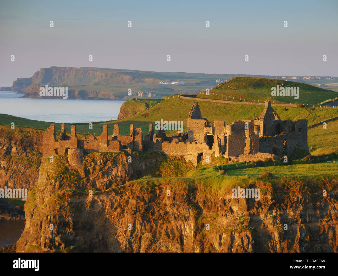 Photograph of Dunluce Castle, County Antrim, Northern Ireland. - Stock Image