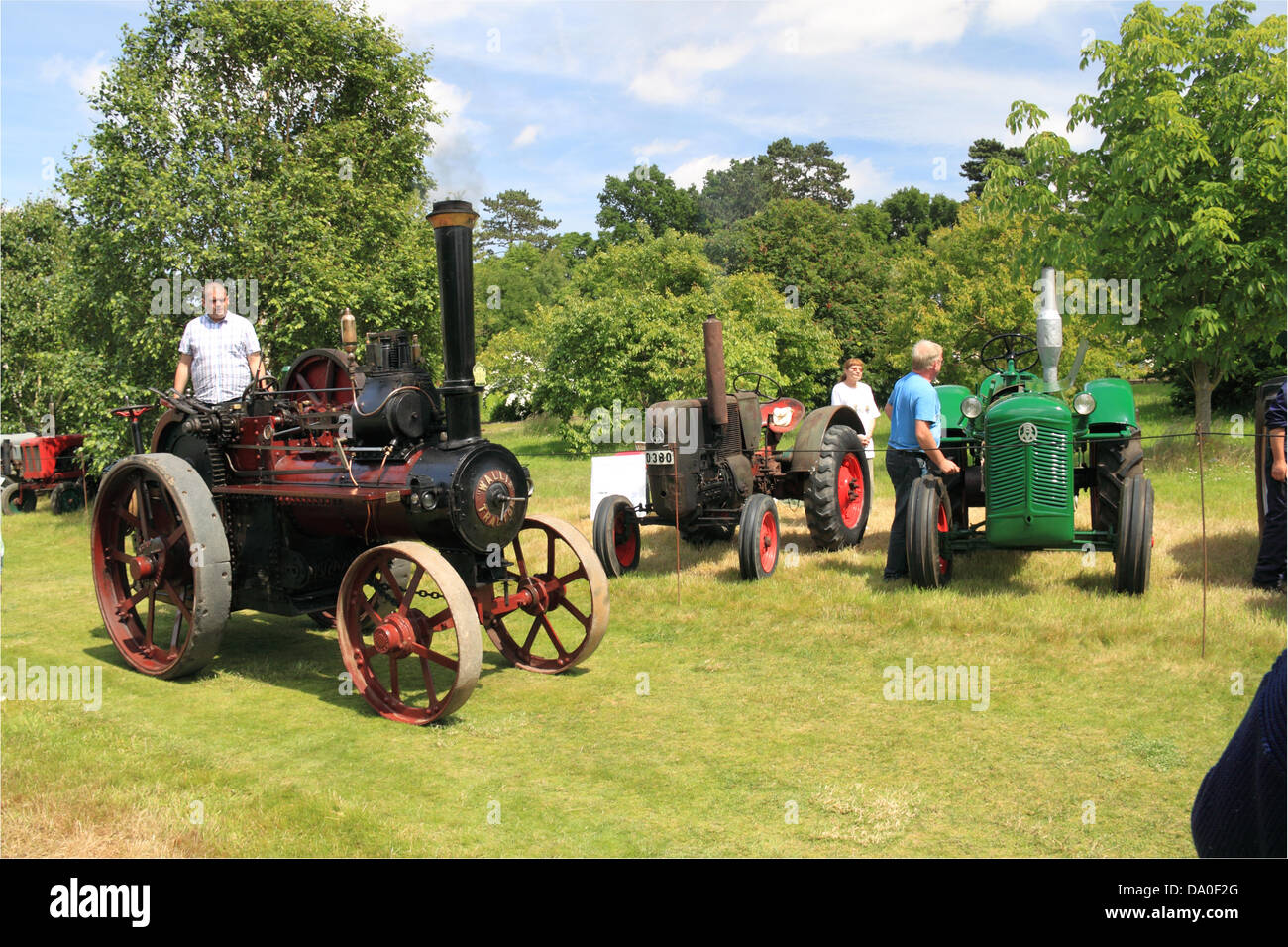 Wallis steam tractor, vintage tractor display and parade, Royal Horticultural Society Garden Party Weekend, 29th - Stock Image