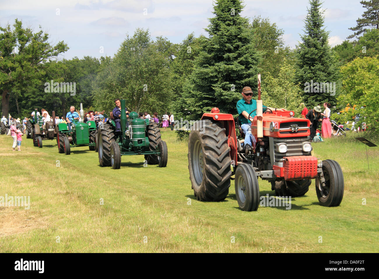Massey Ferguson 165 and Field Marshall Mark 3, vintage tractor display and  parade, Royal