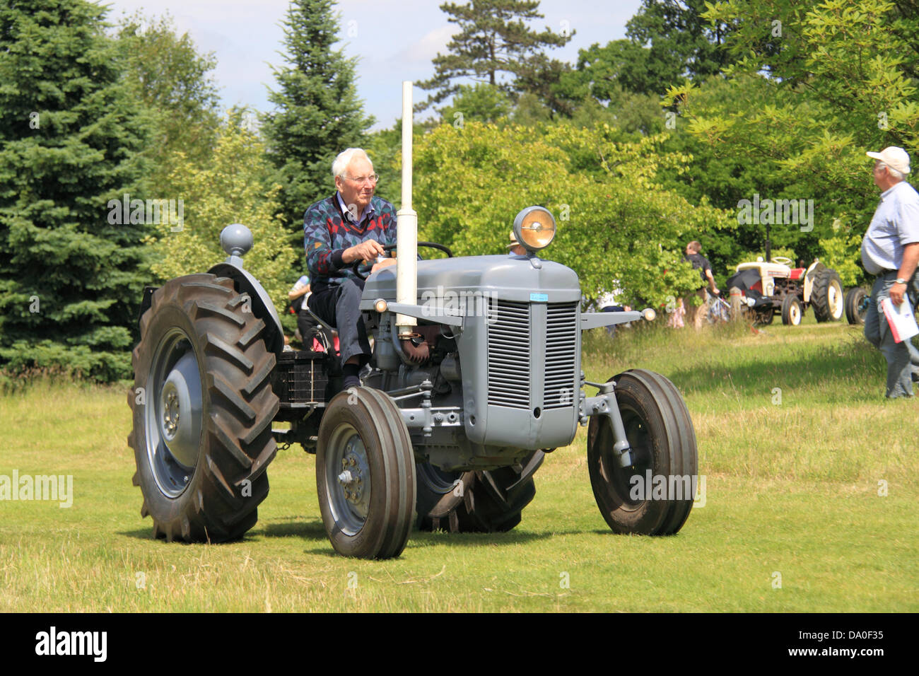Ferguson Model TE20, vintage tractor display and parade, Royal Horticultural Society Garden Party Weekend, 29th - Stock Image