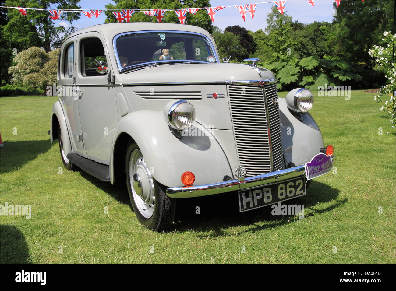 1938 Ford Prefect E93A, Brooklands Museum Trust display, Royal Horticultural Society Garden Party Weekend, 29th - Stock Image