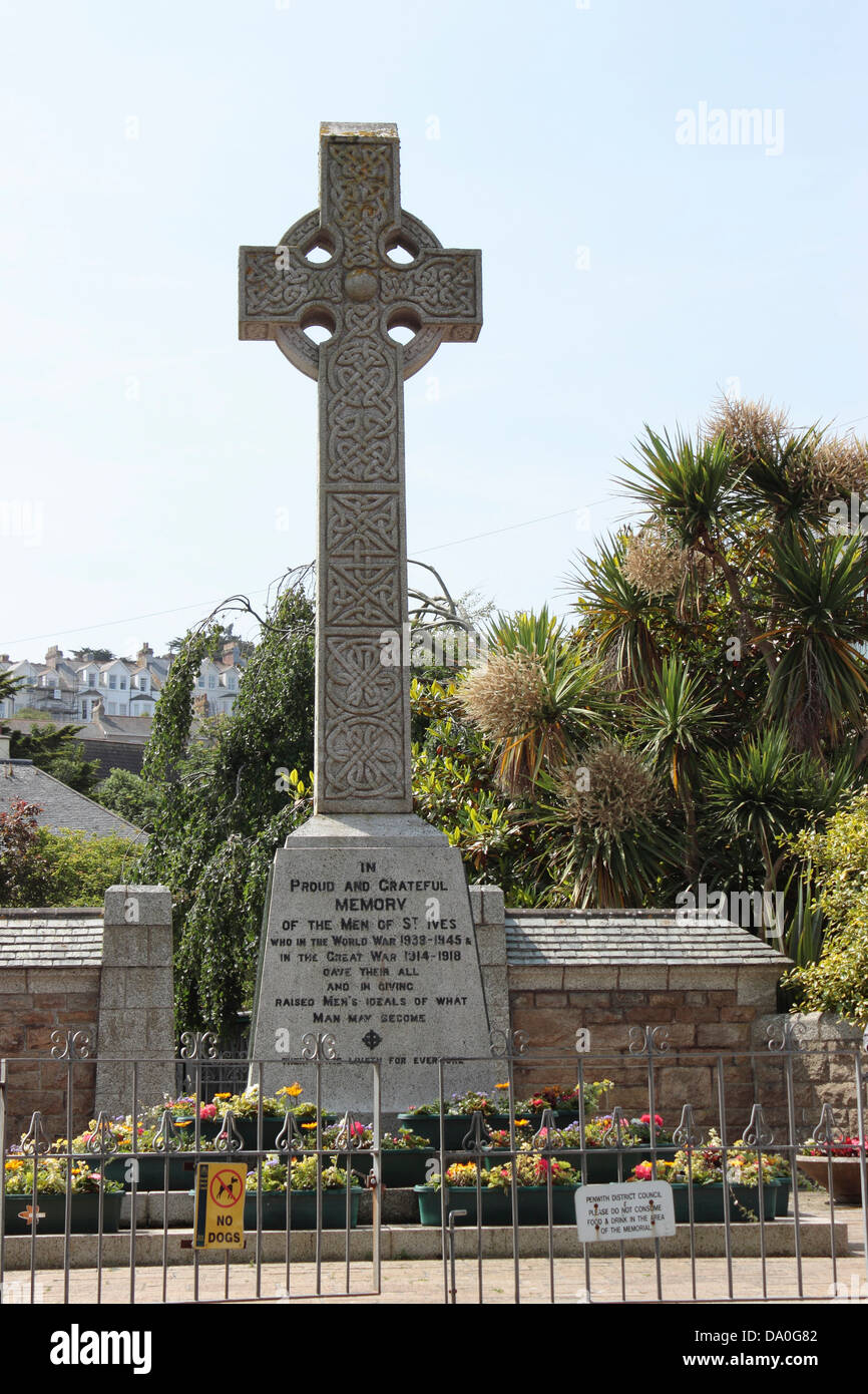 St Ives War Memorial - Stock Image