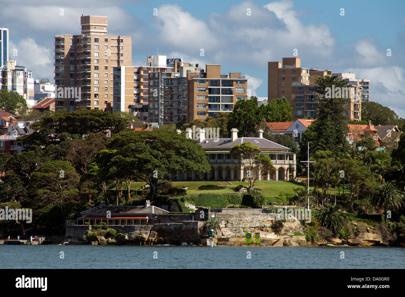 Admiralty House and Kirribilli Sydney New South Wales Australia - Stock Image
