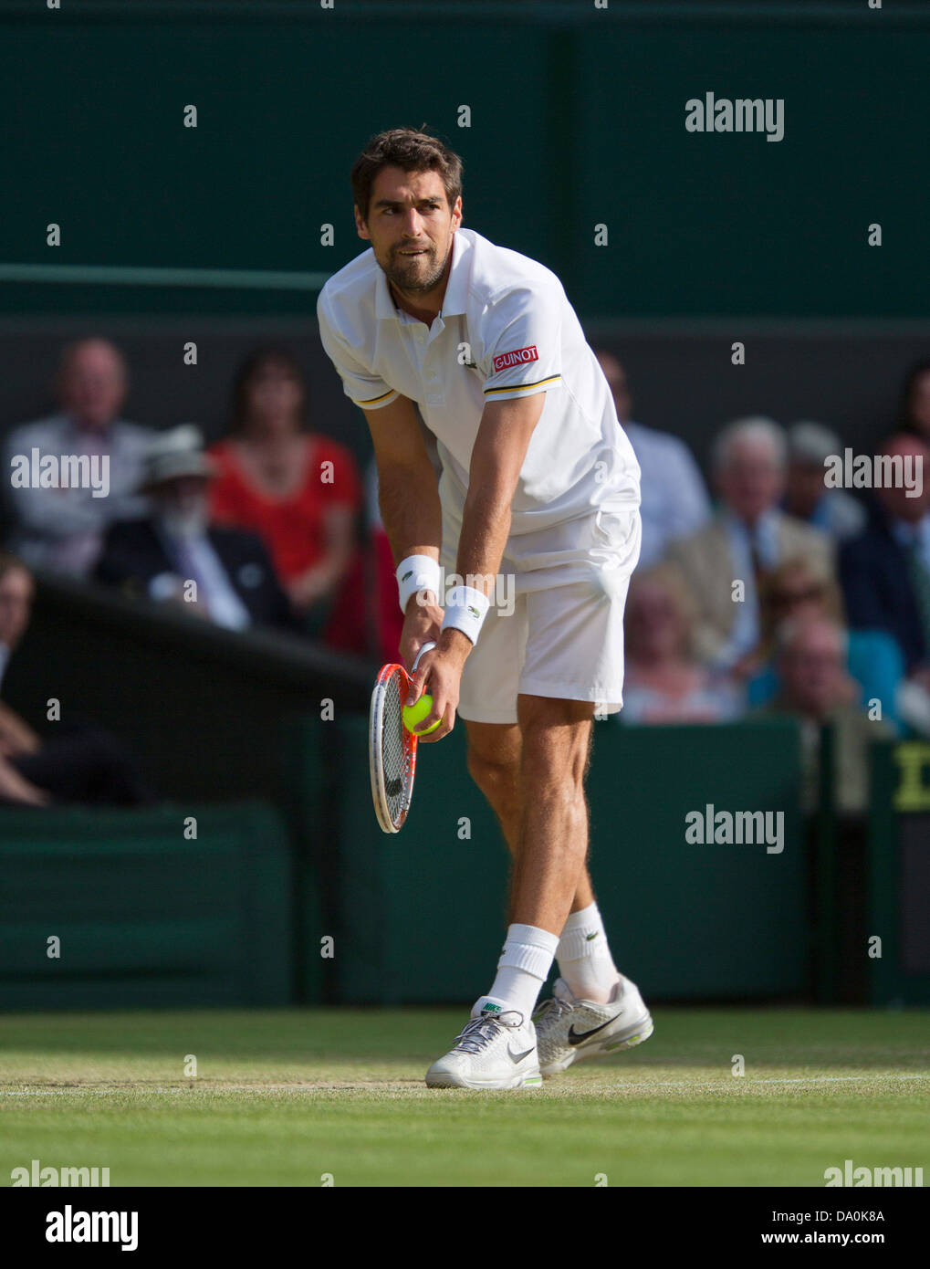 29-06-13, England, London, AELTC, Wimbledon, Tennis, Wimbledon 2013, Day six, Jeremy Chardy (FRA) Photo: Henk Koster - Stock Image
