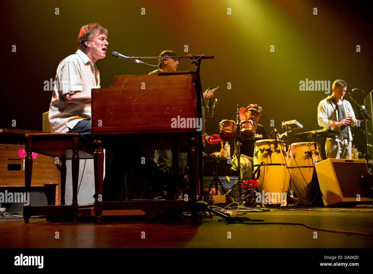 Steve Winwood and his band in concert at The Lowry, Salford, UK, 24 June 2013. - Stock Image