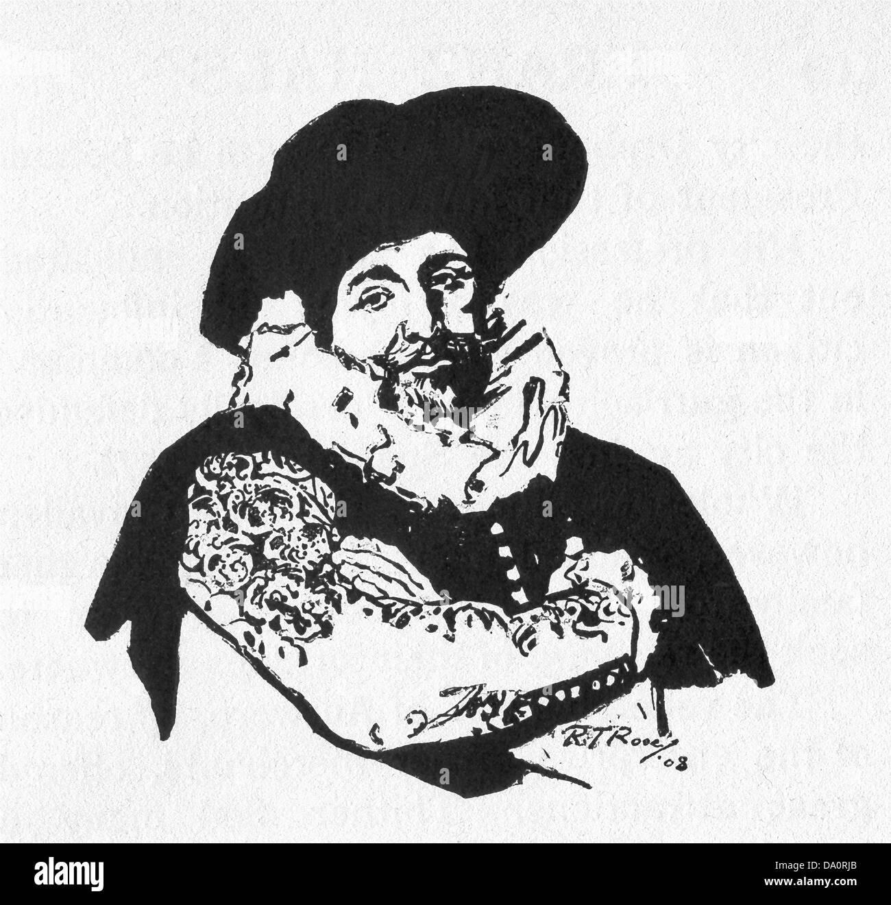 Dutch Golden Age painter Franz Hals (c. 1582–1666) was born in