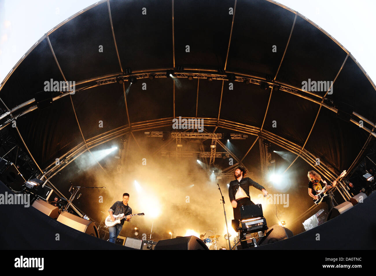 BARCELONA - MAY 22: The Vaccines band performance at Heineken Primavera Sound 2013 Festival, Ray-Ban Stage. - Stock Image