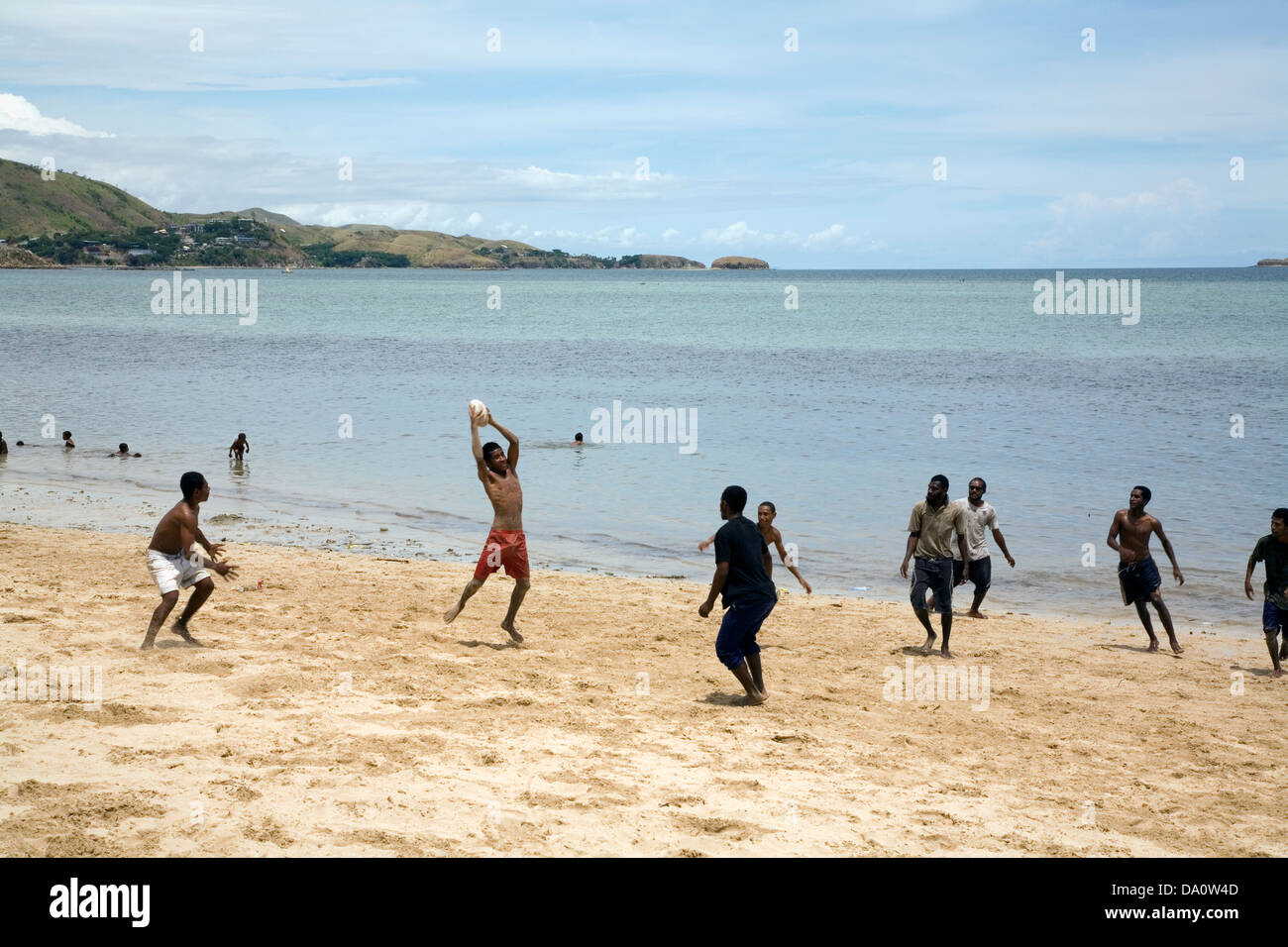 Ela Beach is the prettiest and safest beach in the Port Moresby area, Papua New Guinea. - Stock Image