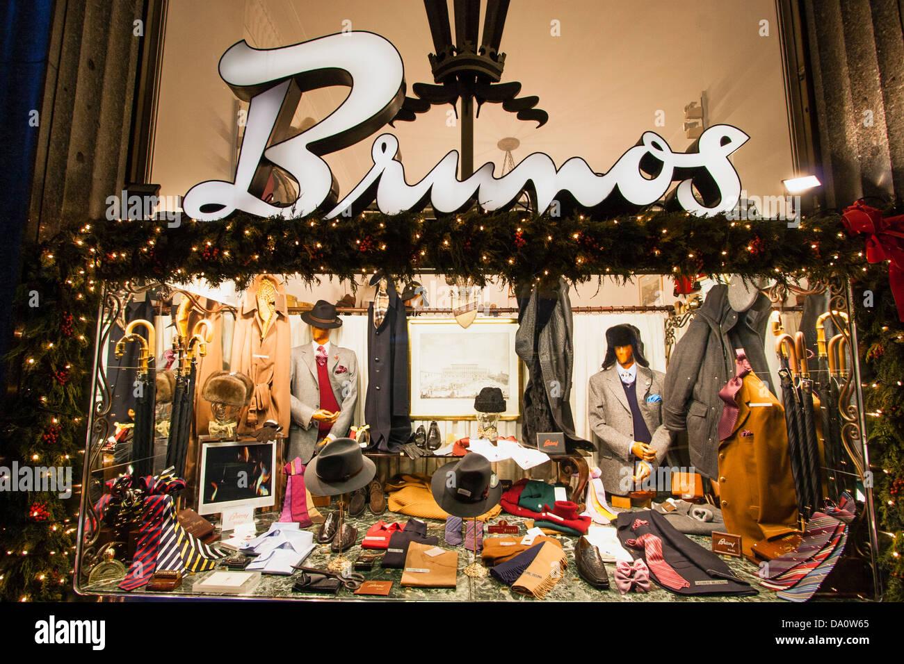Brunos Shop window at Bahnhofstrasse in Zurich , Switzerland - Stock Image