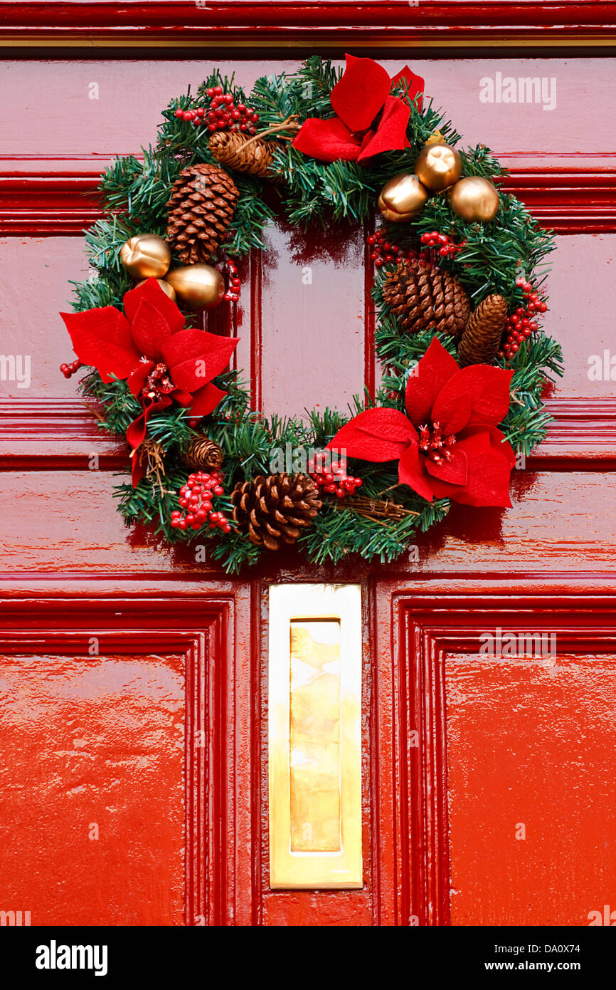 Red Door Christmas Stock Photos Red Door Christmas Stock Images