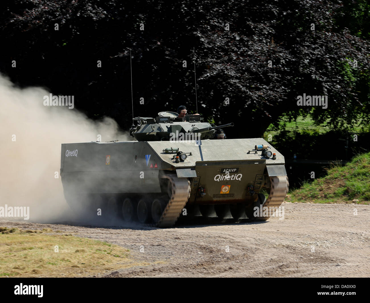 Bovington, UK. 29th June, 2013. The Advanced Composite Armoured Vehicle Platform (ACAVP) is the first composite - Stock Image