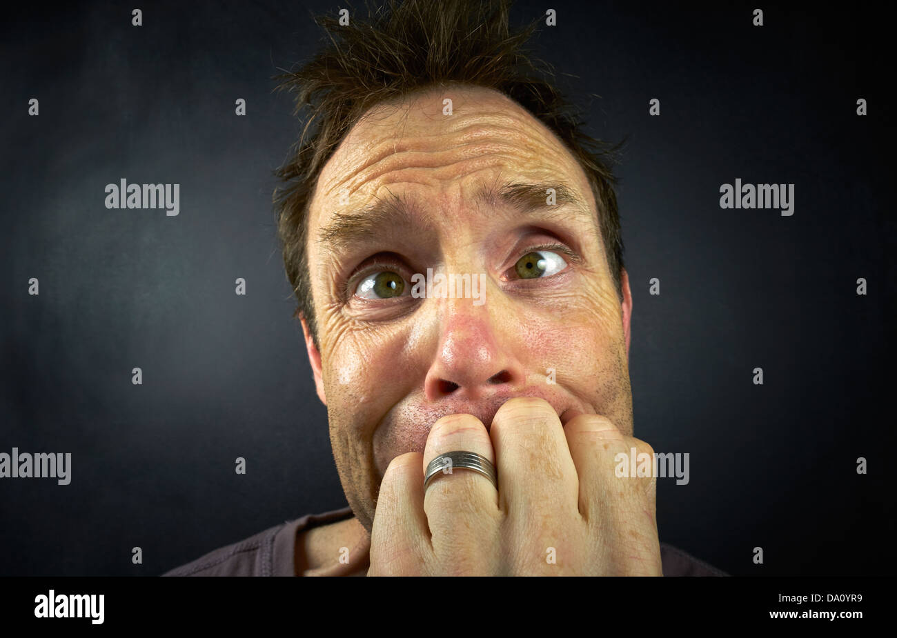 A worried Man - Stock Image