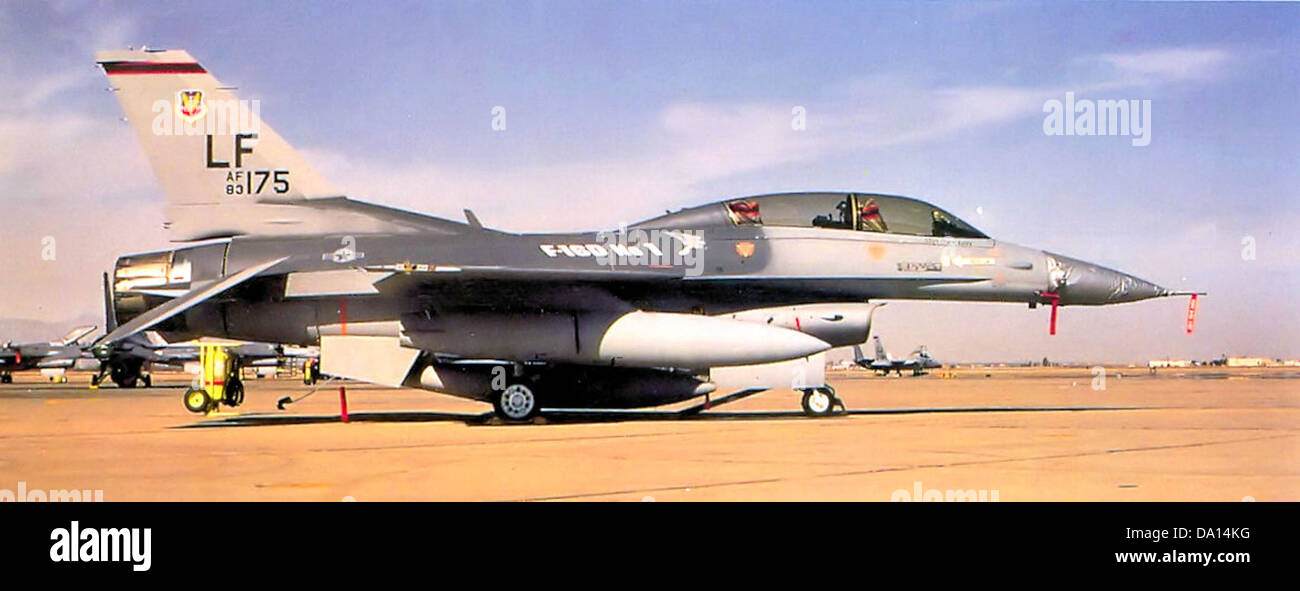 312th Tactical Fighter Training Squadron - F-16D 83-1175 - Stock Image
