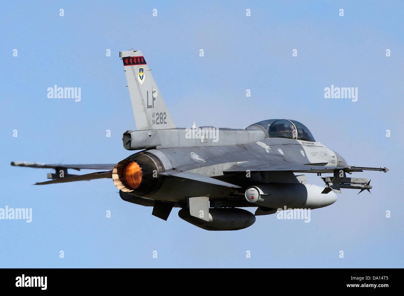 425th Fighter Squadron - Lockheed F-16D Block 52 Fighting Falcon 94-0282 - Stock Image