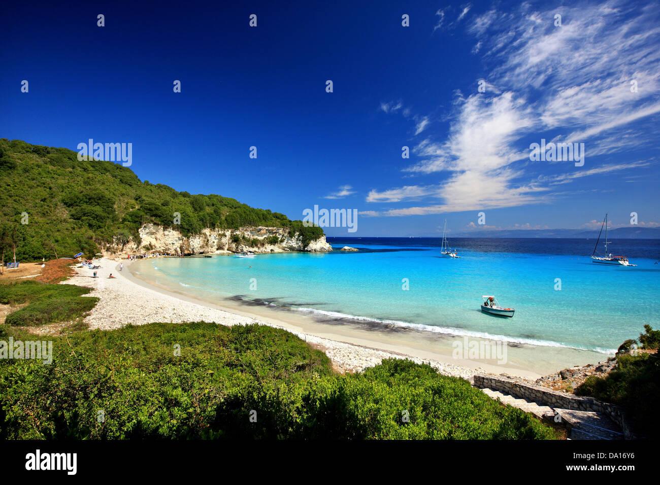 The exotic Voutoumi beach, Antipaxos ('Antipaxi') island, Ionian Sea, Eptanisa ('Seven Islands'), - Stock Image