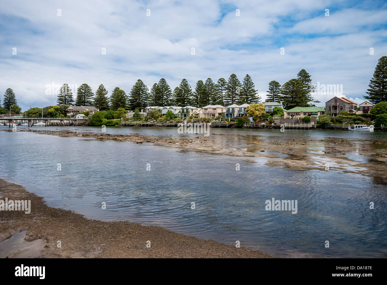 The picturesque fishing town of Port Fairy on the western end of the Great Ocean Road in Victoria, Australia. - Stock Image
