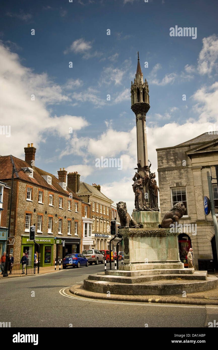Newport Town centre on the Isle of Wight, UK - Stock Image