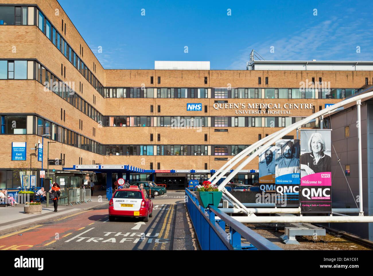Queens Medical Centre Nottingham Nottinghamshire east midlands England UK GB EU Europe - Stock Image