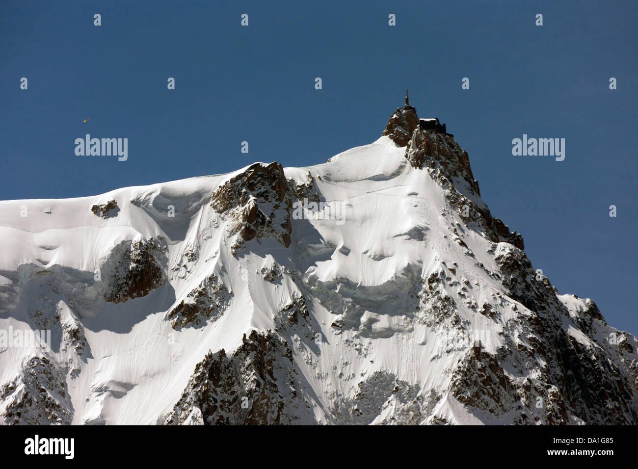 Aiguille du Midi (3,842 m) Chamonix du Mont Blanc, France - Stock Image