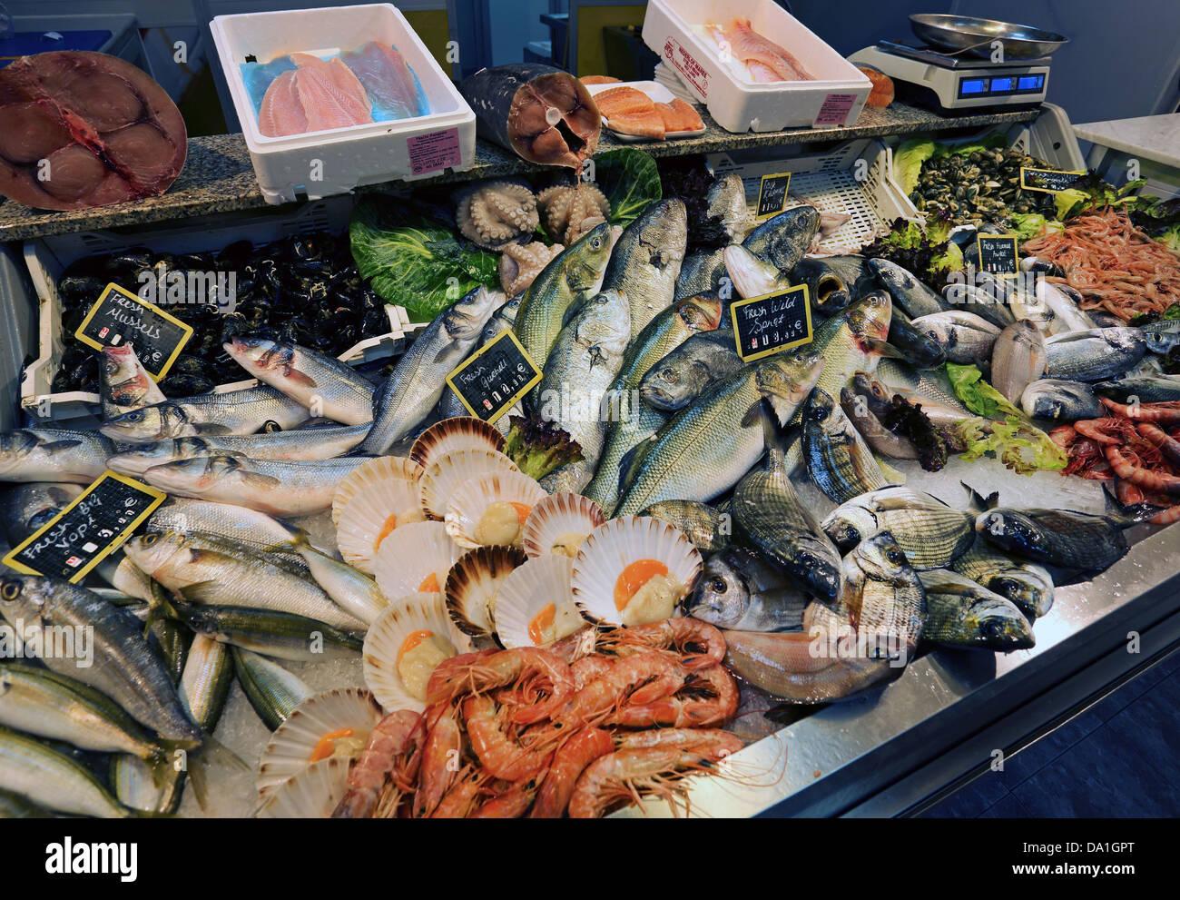 FISH MARKET,VALLETTA,MALTA - Stock Image