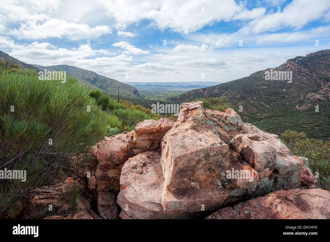 The ruggedly beautiful Flinders Ranges in the Australian outback. - Stock Image