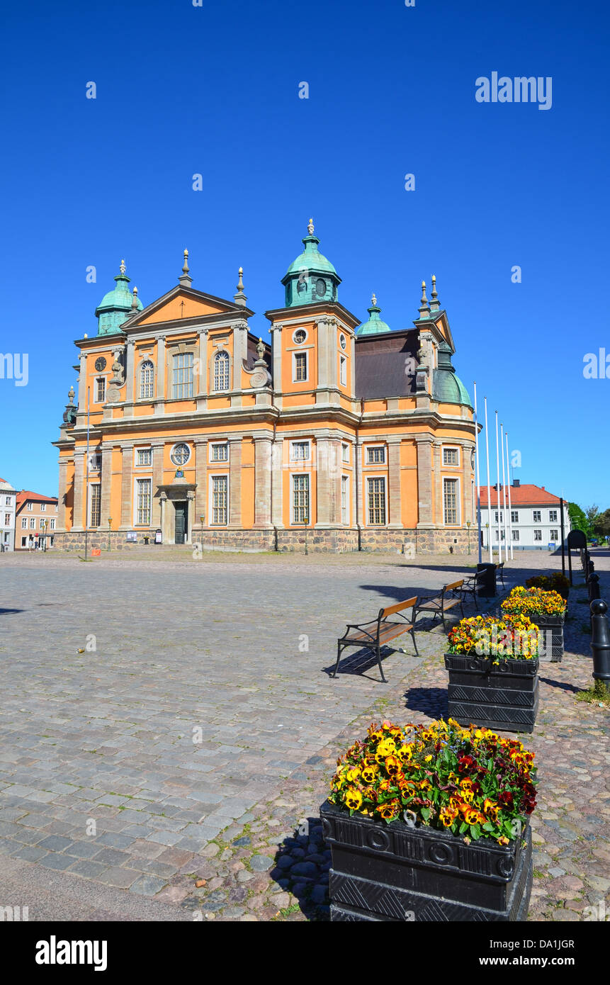 The Cathedral in the city of Kalmar, an old town by the Baltic Sea in Sweden. - Stock Image