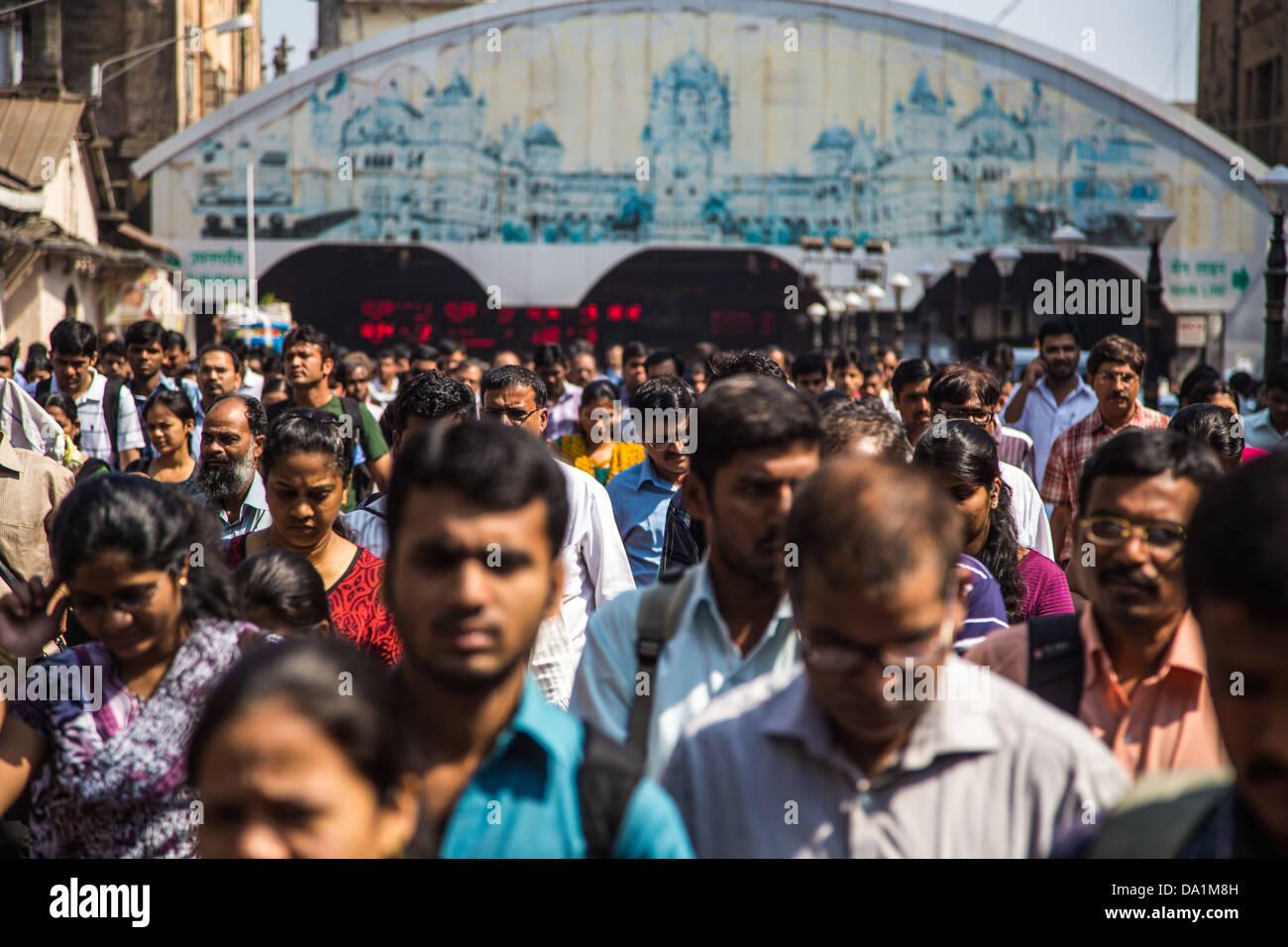 Chattrapati Shivaji or Victoria Terminus, Mumbai, India - Stock Image