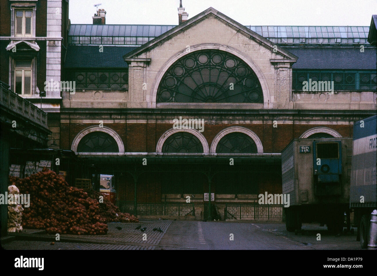 A view of the old Covent Garden Market building now site of the London Transport Museum London WC2 England 1972 - Stock Image