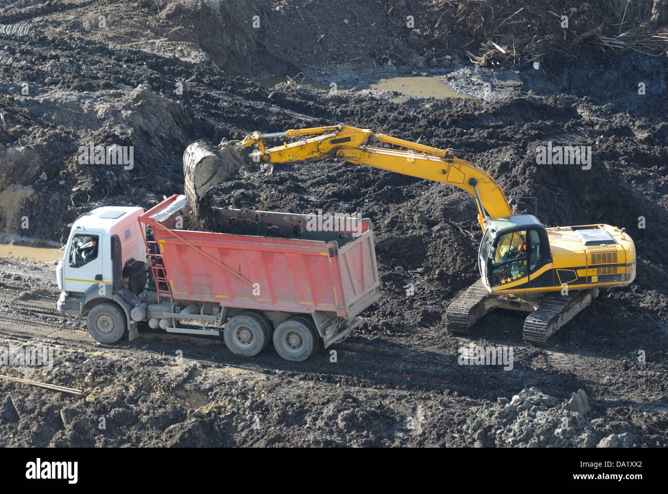 Beginning of construction of living houses in Saint-Petersburg. - Stock Image