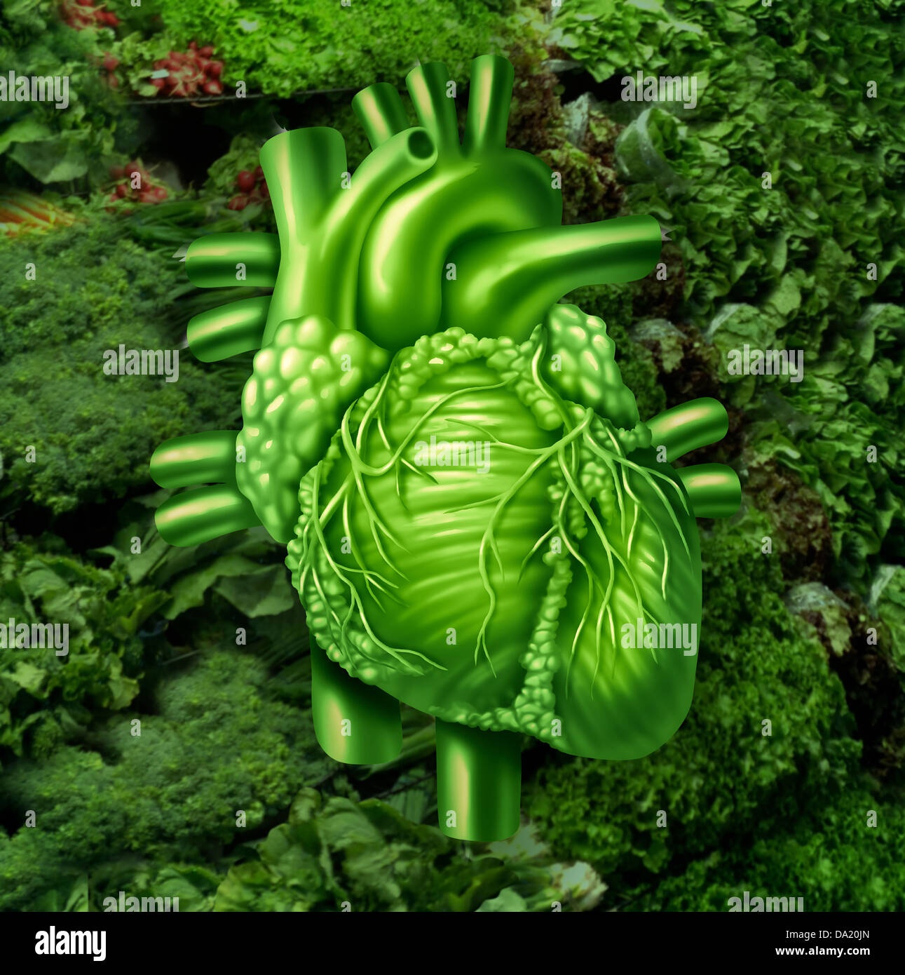 A Vitamin Contained In Leafy Green Vegetables Healthy heart diet with dark leafy green vegetables at a vegetable healthy heart diet with dark leafy green vegetables at a vegetable stand as a health care and nutrition concept for eating natural raw food packed with workwithnaturefo