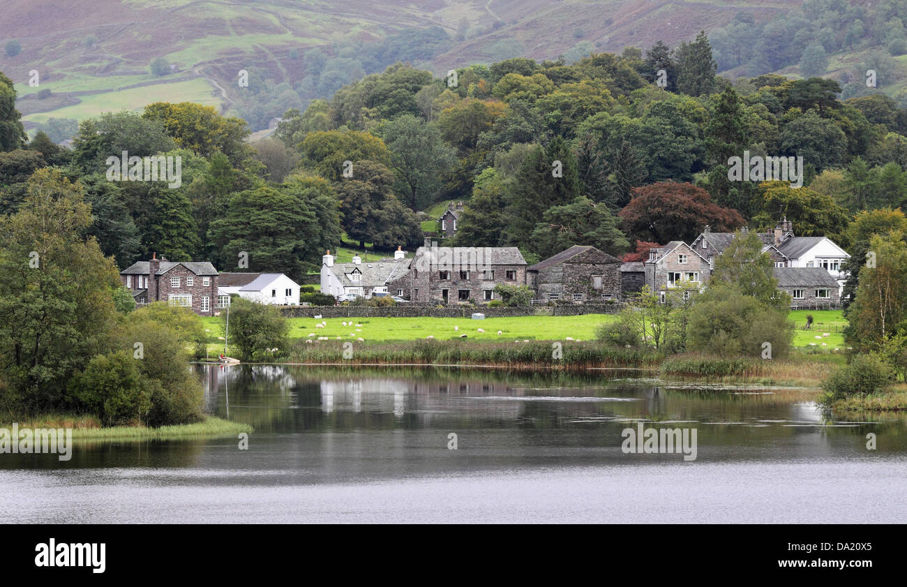 Grasmere in the English Lake District - Stock Image