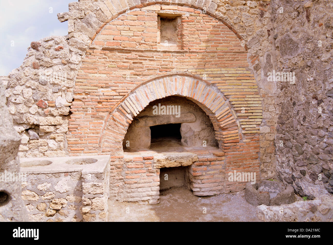 A Bakehouse Oven at Pompeii - Stock Image
