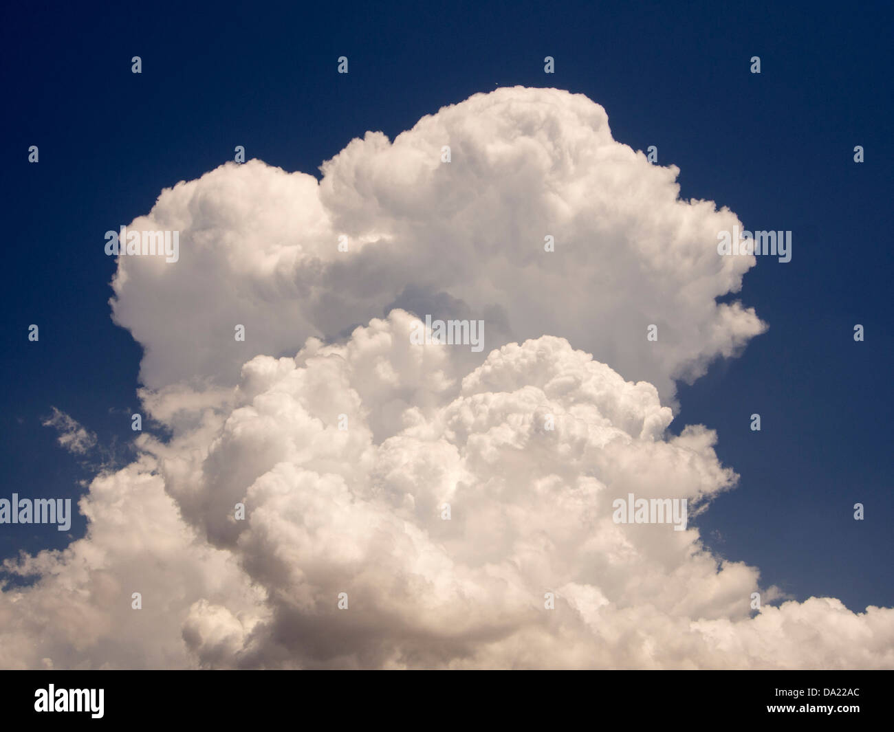 a thunder cell build up of cumulo nimbus clouds over lesvos greece