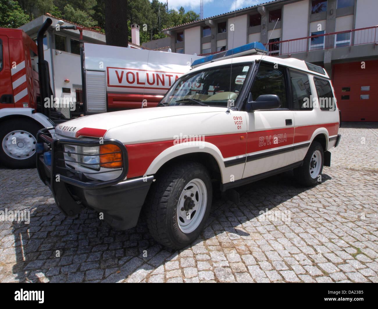 Land Rover, Bombeiros Seia, Unit 0910 VCOT 01 pic2 - Stock Image