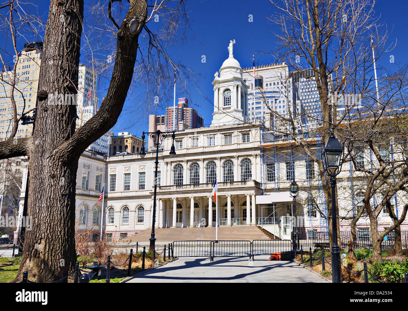 City Hall building of New York City, USA. - Stock Image