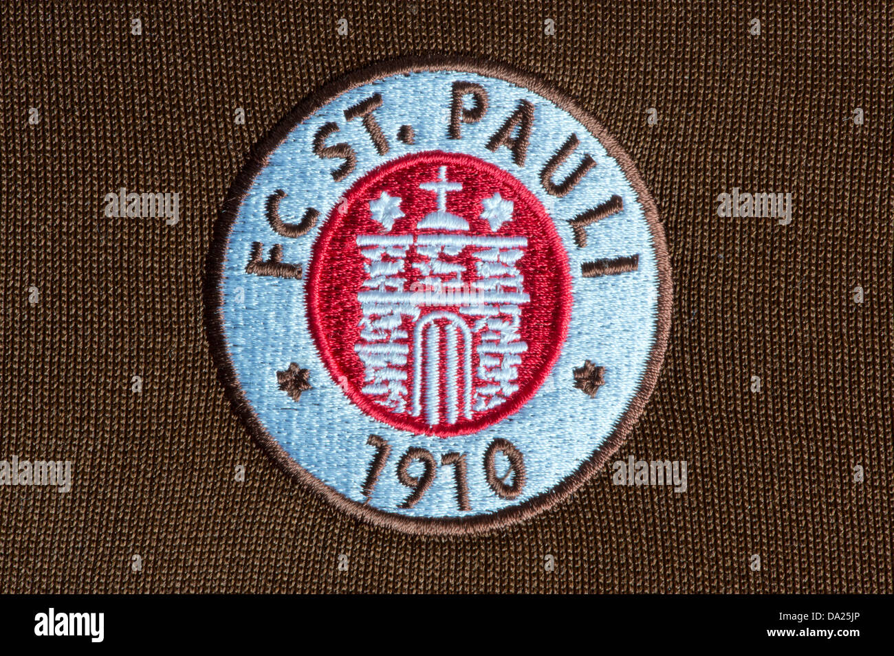 The St Pauli Football Club badge as seen on an official tracksuit (Editorial use only). - Stock Image