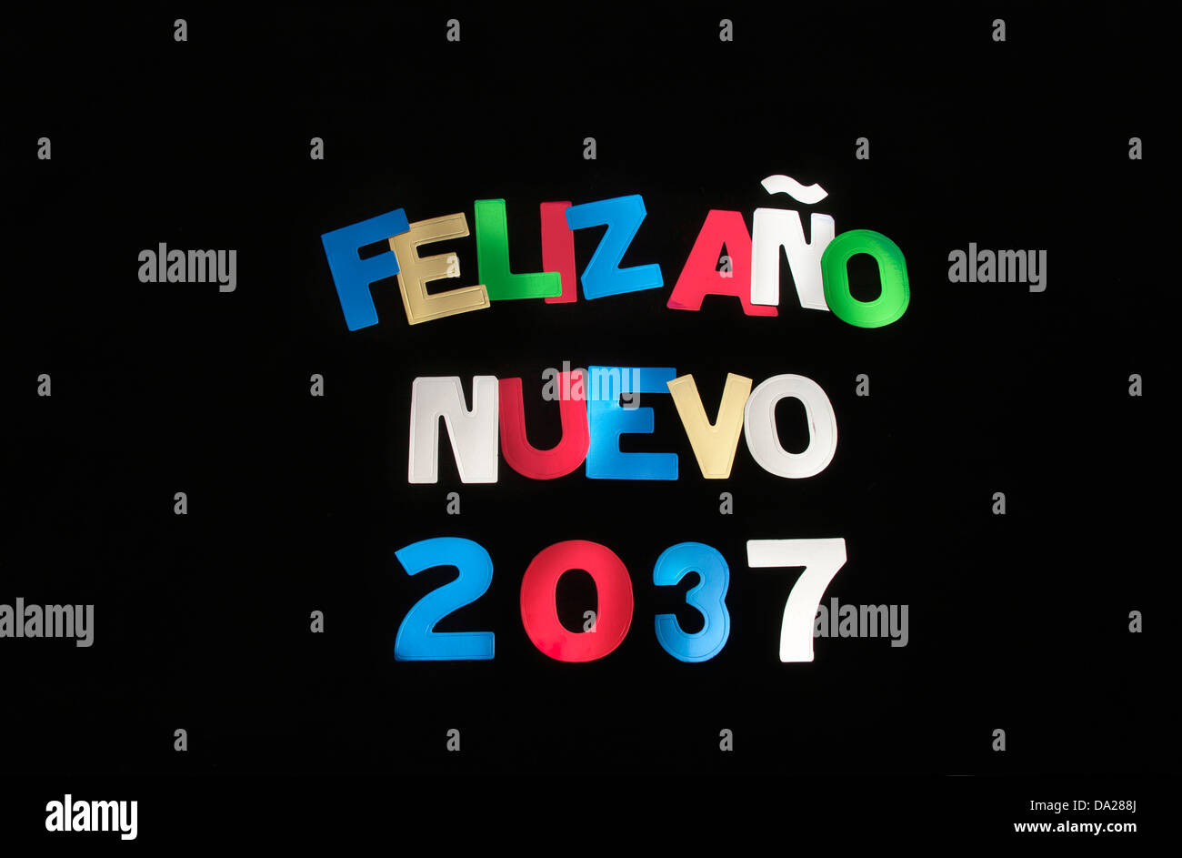 FELIZ ANO NUEVO 2037 - Stock Image