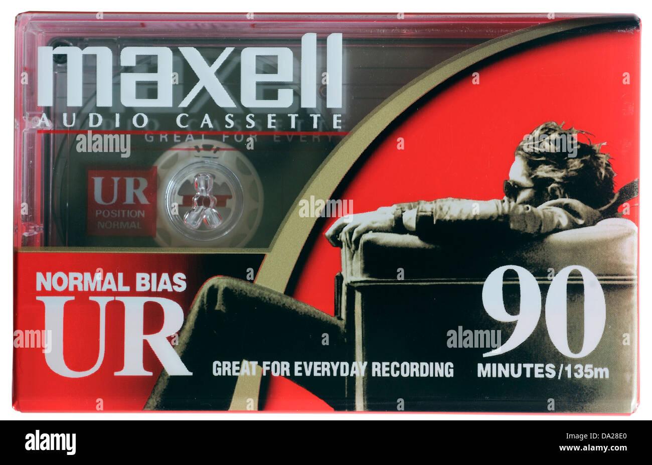Maxell D90 cassette tape - Stock Image